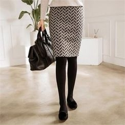 JOAMOM - Patterned Pencil Skirt