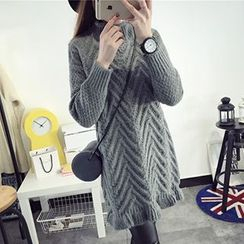 FR - Turtleneck Long Sweater