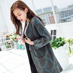 Hibisco - Diamond Pattern Long Cardigan