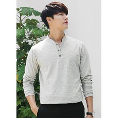 JOGUNSHOP - Band-Collar Long-Sleeve Top