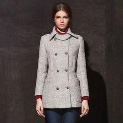 KAKO KARA - Double-Breasted Woolen Coat