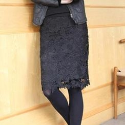 Eva Fashion - Lace Midi Skirt