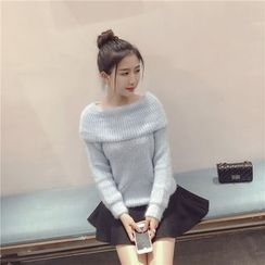Cotton Candy - Off-Shoulder Sweater