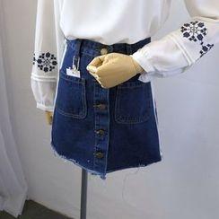 Phantasy - Denim A-Line Skirt
