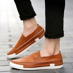 MR.GONG - Faux Leather Slip Ons