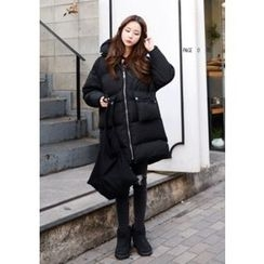 DEEPNY - Hooded Pocket-Front Thick Padded Coat