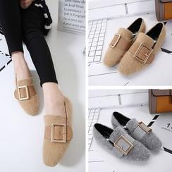 Monde - 絨毛平跟鞋