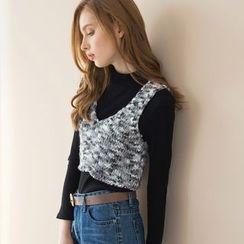 Tokyo Fashion - Sleeveless Cropped Knit Top