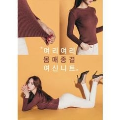 Chlo.D.Manon - Slim-Fit Colored Rib-Knit Top