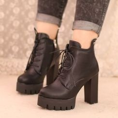IYATO - Chunky-Heel Ankle Boots