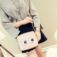Youme - Eye Tasseled Chained Shoulder Bag