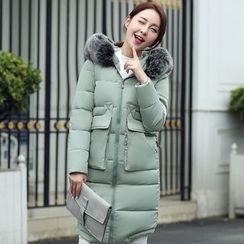 lilygirl - Hooded Long Padded Jacket