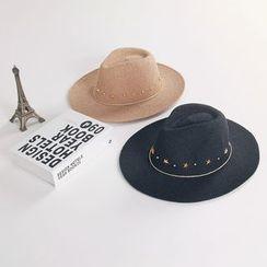 Reyna - Studded Fedora Hat