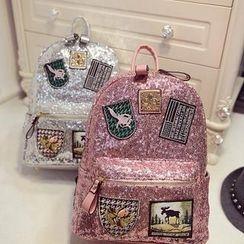 Secret Garden - Badges Sequined Backpack