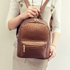 Merlain - Leopard Print Mini Backpack