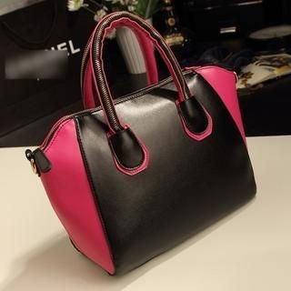 Miss Sweety - Color-Block Zip Tote