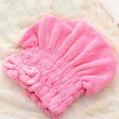 Good Living - Bow-Accent Hair Towel Cap