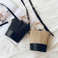 Youshine - Faux Leather Straw Hand Bag