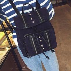 薇薇 - 星星铆钉拉链装饰背包