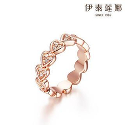 Italina - Swarovski Elements Crystal Heart Ring