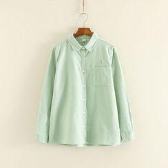 三木社 - 刺繡長袖襯衫