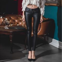 Aurora - Faux-Leather Pants