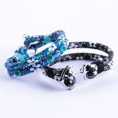 Trend Cool - Floral Print Layered Bracelet