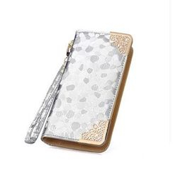 SUOAI - Stone Patterned Long Wallet
