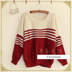 Fairyland - Two-Tone Cropped Sweater