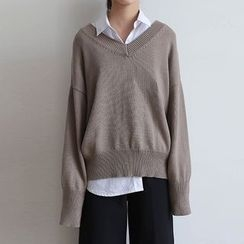 ELLY - V-Neck Oversized Sweater
