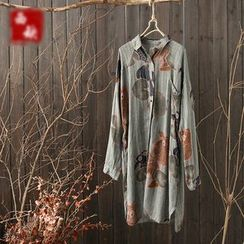 Rosadame - Print Long Shirt