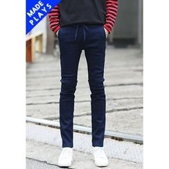 PLAYS - Fleece-Lined Washed Jeans