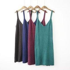 Polaris - 纯色背带针织连衣裙