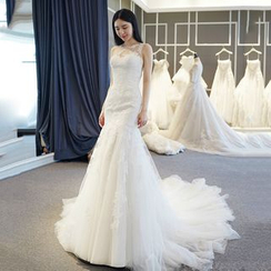 YACCA - Sleeveless Mermaid Wedding Ball Gown With Train