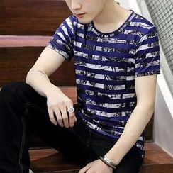 Evzen - Striped Short-Sleeve T-Shirt