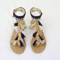 NANING9 - Tassel Thong Sandals