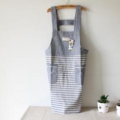 三木青禾 - 条纹拼接围裙