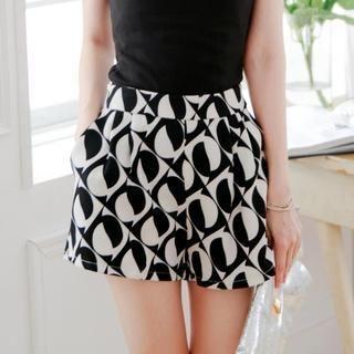 Tokyo Fashion - Elastic-Waist Patterned Shorts
