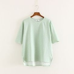 Mushi - Polka Dot Short-Sleeve T-Shirt