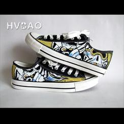 HVBAO - 深邃天狼個性塗鴉鞋