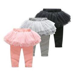 MOM Kiss - Baby Leggings Inset Tulle Skirt