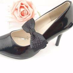 Blue Fairy - Set: Bow-Accent Shoe Decoration + Shoes Strap