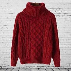 FR - Turtleneck Cable Knit Sweater