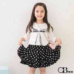 OrangeBear - Polka Dots Layered Skirt
