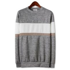 Seoul Homme - Color-Block Knit Pullover