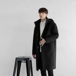 Seoul Homme - Wool-Blend Hooded Coat