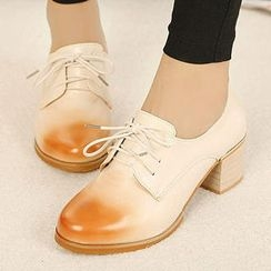 Mancienne - Gradient Lace-Up Shoes