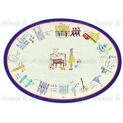 Aimez le style - Aimez le style Oval Plate London Map