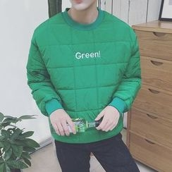 DragonRoad - Lettering Embroidered Padded Pullover