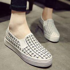 Shoeland - Check Slip-Ons
